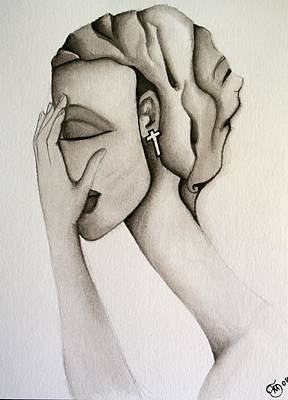 Doubt Painting - The Mask by Simona  Mereu