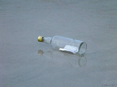 Reflections On Bottle Photograph - The Message by Grace Dillon