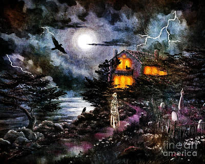 Paranormal Digital Art - The Midnight Dreary by Laura Iverson