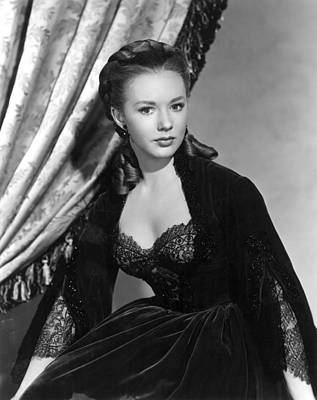 1950s Movies Photograph - The Mississippi Gambler, Piper Laurie by Everett