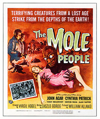 1950s Movies Photograph - The Mole People, Upper Left by Everett