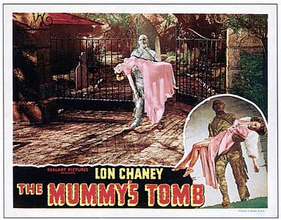 The Mummys Tomb, Elyse Knox, Lon Chaney Print by Everett