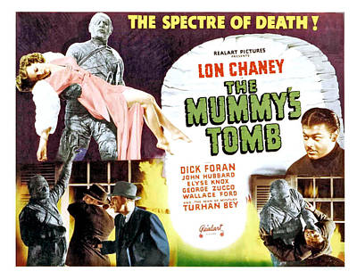 The Mummys Tomb, Top From Left Elyse Print by Everett