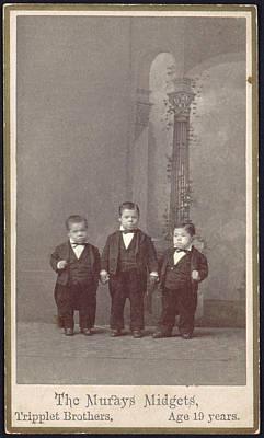 The Murays Midgets, Triplets, 19 Years Print by Everett