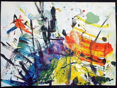 Painting - The Nature Motion by Paul Pulszartti