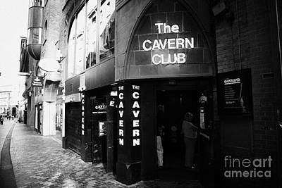 The New Cavern Club In Mathew Street In Liverpool City Centre Birthplace Of The Beatles Merseyside Print by Joe Fox