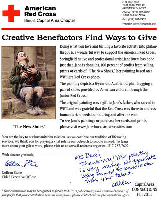 Painting - The New Shoes Raises Funds by Jane Bucci