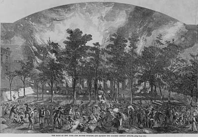 The New York City Draft Rioters Burned Print by Everett