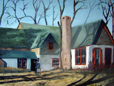 Kansas Artist Painting - The Old Artists Studio by Stephen  Hanson