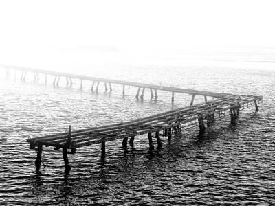 Ocean Photograph - The Old Pier by Bill Cannon