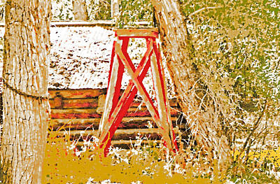 The Old Ranch Tower Print by Lenore Senior and Dawn Senior-Trask