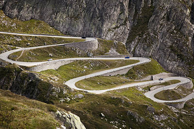 The Old Road To Gotthard Pass Print by Buena Vista Images