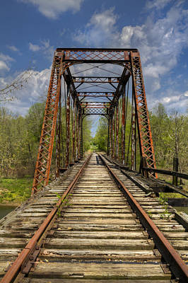 Old Caboose Photograph - The Old Trestle by Debra and Dave Vanderlaan