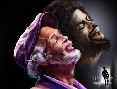 Rapper Painting - The Other Side-gil Scott Finally Going Home by Reggie Duffie