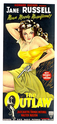 The Outlaw, Jane Russell, 1943 Print by Everett