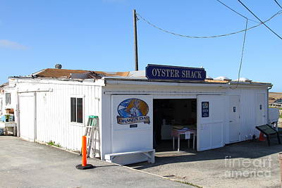 The Oyster Shack At Drakes Bay Oyster Company In Point Reyes California . 7d9833 Print by Wingsdomain Art and Photography