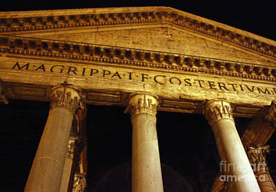 The Pantheon At Night Print by Kent Nickell