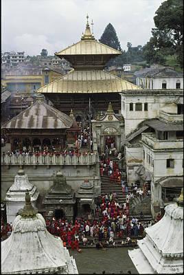The Pashupatinath Temple Print by James P. Blair