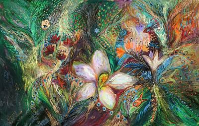 Swarovski Crystal Painting - The Passion Of Green by Elena Kotliarker