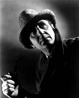 1944 Movies Photograph - The Pearl Of Death, Basil Rathbone, 1944 by Everett