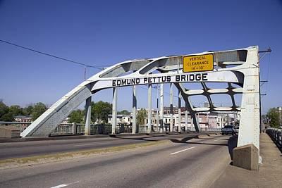 The Pettus Bridge In Selma Alabama Print by Everett