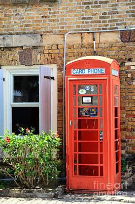 Old Phone Booth Photograph - The Phone Booth by Sophie Vigneault