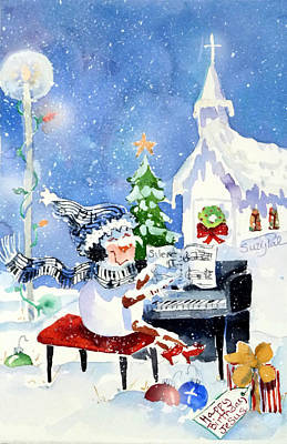 Wreath Painting - The Piano Player by Suzy Pal Powell