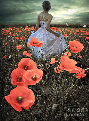 Candle Lit Digital Art - The Poppy Field  by Eugene James