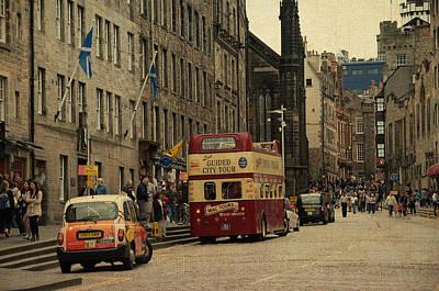 The Princes Street In Edinburgh. Scotland Print by Jenny Rainbow