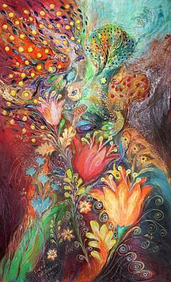 Swarovski Crystal Painting - The Princesses Of Garden by Elena Kotliarker