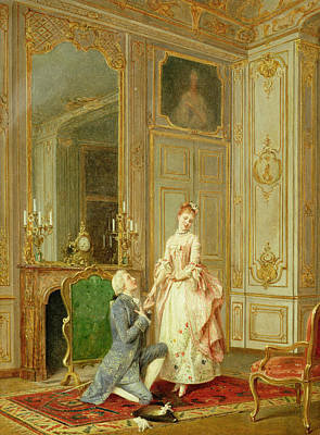 Flirtation Painting - The Proposal by Manuel Garay y Arevalo