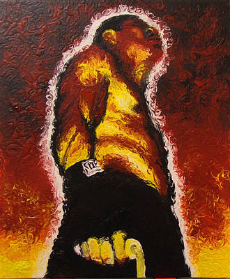 Bodybuilding Painting - The Pugilist by Brian Carlton