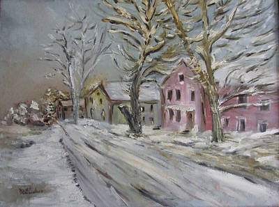 Painting - The Purple House by Michel Croteau
