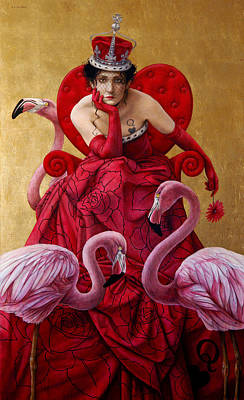 Luis Painting - The Queen Of Hearts From Alice In Wonderland by Jose Luis Munoz Luque