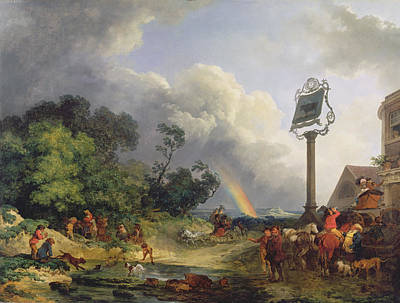 Jacques Photograph - The Rainbow by Philip James de Loutherbourg