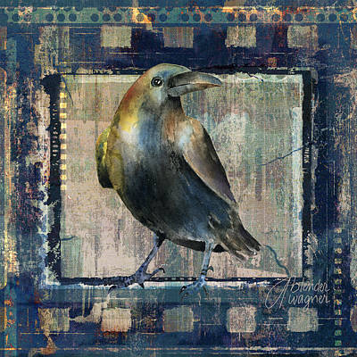 Crow Mixed Media - The Raven by Arline Wagner
