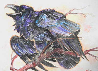 Painting - the Raven by Jenn Cunningham