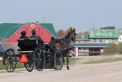 Amish Community Photograph - Joyride by Lisa  DiFruscio