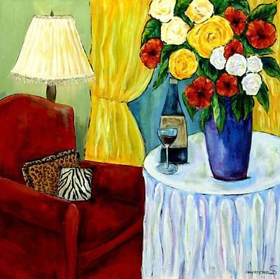 Maryann Painting - The Red Chair by MaryAnn Ceballos