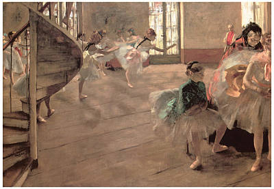 Ballet Painting - The Rehearsal by Edgar Degas
