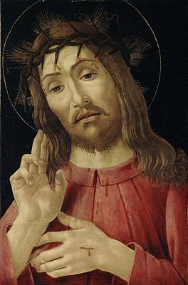 Jesus Face Painting - The Resurrected Christ by Sandro Botticelli