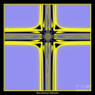 Jesus Digital Art - The Resurrection Cross Fractal 62 by Rose Santuci-Sofranko