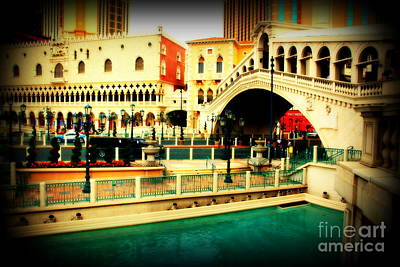 The Rialto Bridge Of Venice In Las Vegas Print by Susanne Van Hulst