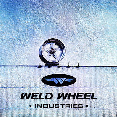 The Rim At Weld Wheels Industries  Print by Andee Design