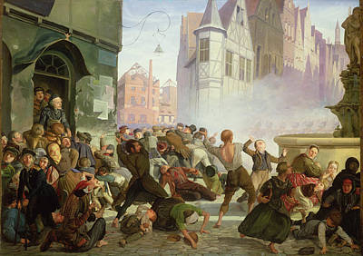 The Riot Print by Philip Hoyoll