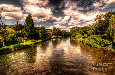 Trout Photograph - The River Exe At Bickleigh by Rob Hawkins