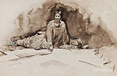 Indian Ink Painting - The Robe by Pg Reproductions