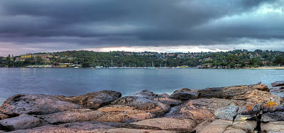 The Rocks Of Hunter Bay Print by Mark Lucey