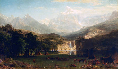'the Rocky Mountains' By Albert Bierstadt Print by Photos.com