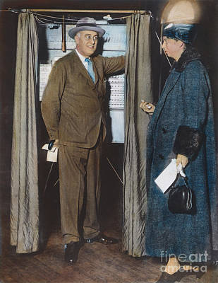 The Roosevelts Voting Print by Granger